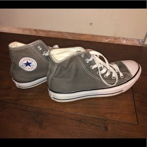 Grey Converse Hightop Sneakers